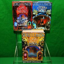 A Game Of Thrones by George R. R. Martin U.K. 3 Book Club Edition Set NEAR FINE!