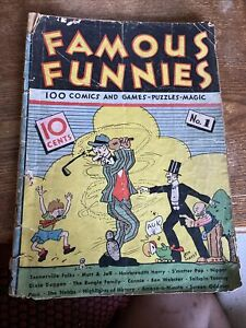 Famous Funnies #1 [1934] FIRST NEWSSTAND COMIC BOOK. (POOR CONDITION).