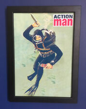 Action Man Sailor Navy Frogman Framed 1960's A4 Size Poster Advert Sign Leaflet