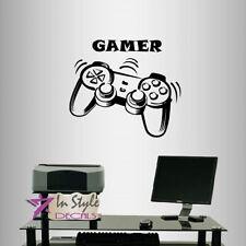 Vinyl Decal Video Games Controller Gaming Gamer Teen Boys Room Wall Sticker 961