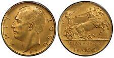 More details for albania 100 franga ari gold coin 2 stars 1927 pcgs ms63 rare shqipni kosova