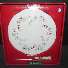 Pfaltzgraff Winterberry Cheese Tray Plate Sculpted Server Slicer Holiday New