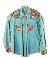 Vtg 70's-80's Tem-Tex Western Sportswear Embellished Size 18/35 (XL)