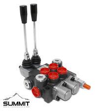 2 Spool Hydraulic Monoblock Double Acting Control Valve, 11 GPM, SAE Ports