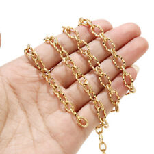 7mm Width Large Gold Plated Links Stainless Steel DIY Jewelry Making Findings