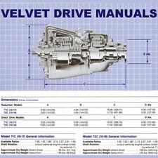 VELVET DRIVE 70c-72c BOAT & MARINE TRANSMISSION Service, Overhaul, Parts MANUALS