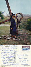 1973 FRENCH NATIONAL COSTUME BRITTANY FRANCE COLOUR POSTCARD