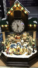 """More details for brand new musical cuckoo clock with chrismas village 17"""""""
