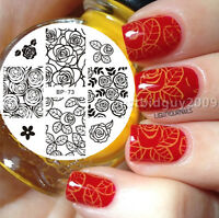 BORN PRETTY Nail Art Stamping Plate Rose Flower Image Stamp Template BP73