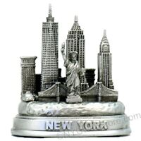 NYC Silver Skyline 3D Model 3 Inches