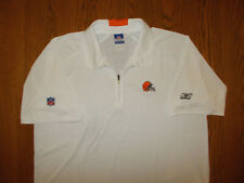 REEBOK CLEVELAND BROWNS SHORT SLEEVE WHITE POLO SHIRT MENS XL EXCELLENT COND.