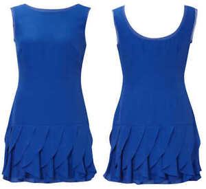 COAST CHARMAINE BLUE SATIN SILK CHIFFON 20'S FLAPPER FRILL  DRESS 12 ONCE £135