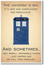 Doctor Who TARDIS - The Universe Is Big - NEW British BBC Humor POSTER
