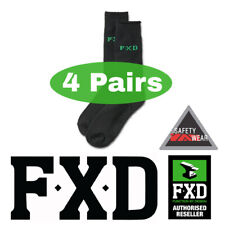 4 Pairs FXD Bamboo Thick Boot Work Socks Workwear SK5 BLACK Size 7-12