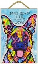 German Shepherd Dogs Never Lie About Love Pop Art Colorful New Wood Sign 432