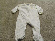 Gerber Toddler Girls White Yellow Clown Stripe Pajamas Sleeper 3 6 months