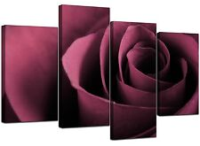 Large Plum Flowers Rose Floral Canvas Wall Art Pictures Prints XL 4111