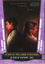 Star Wars 40th Anniversary Purple Base Card #86 Attack of the Clones is Released