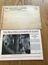 1935 Luray Caverns Virginia Brochure Pamphlet w/ Envelope Outstanding Condition!