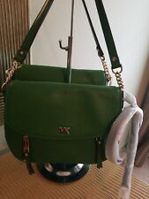 Michael Kors Evie Convertible Leather Shoulder Crossbody Flap Bag True Green NWT