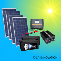 1000W Solaranlage Komplettpaket 220V 24V 2x Akku 280Ah Solarpanel 3000W Watt