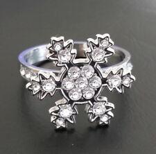 8x Snowflake Diamante Napkin Rings Christmas Table Decorations Winter Party