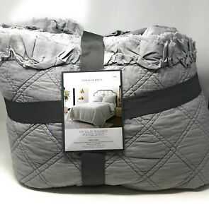 Threshold Vintage Washed Ruffle Quilt King (Open Box)