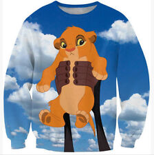 Men/Womens Cartoon The Lion King simba 3D Print Hoodies Tops Sweatshirt S28