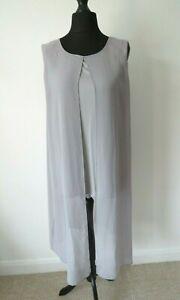 John Rocha Grey Tunic Top Blouse Size 16 Layered Sleeveless Evening Lagenlook