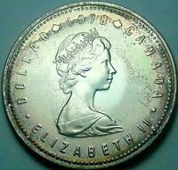 1978 CANADA 1 ONE SILVER DOLLAR PROOF LIGHTLY TONED COLOR BEAUTIFUL UNC BU (DR)