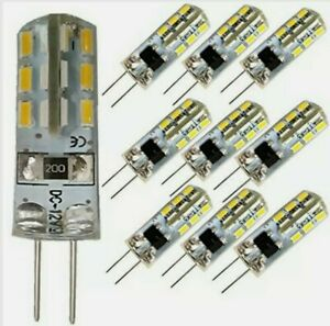 G4 LED Lamp Bulb DC12V 1.5W Replaces Halogen 20W  warm/cool white 10 pack