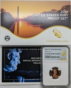 2019 S US Mint Proof Set - 11 Coins - 1st W Lincoln Cent - NGC PF69 RD UC