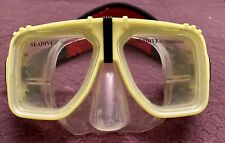 Yellow Seadive Adult Women's Mask Goggles Scuba Snorkel Tempered Glass