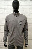 Felpa PIERRE CARDIN Uomo Taglia XL Maglione Pullover Sweatshirt Cotone Grigio