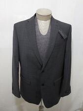 Marc Anthony Mens 100% Wool Coat Blazer Jacket Slim Fit Charcoal Check 40R $240