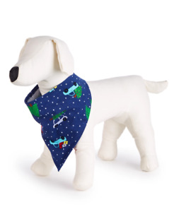 Family PJs Are We There Yet Holiday / Christmas Pet Bandana Size L / XL