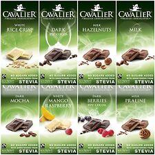 85g CAVALIER Schokoladen m. Stevia + Erythrit + Fairtrade Anteil, ohne Zucker