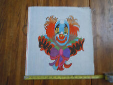 Discounted Hand Painted Needle Point Canvas Colorful Clown Theme