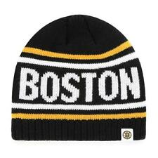 New Licensed Boston Bruins Old Time Hockey Knit Beanie Hat __S48