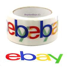 """eBay Branded White BOPP Packing Tape 75 Yds x 2"""" Wide [1 or 2 Rolls]"""