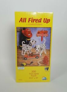 SunsOut Puzzle #81142 All Fired Up Dalmatian Fire Truck Linda Picken 200 Pieces