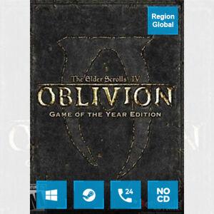 The Elder Scrolls IV Oblivion GOTY Edition Deluxe PC Game Steam Key Region Free
