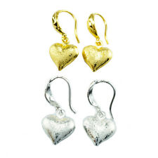Heart 24K Yellow Good Export Factory Two Pair Earrings Gold And Silver Plated