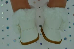 """Dolls Shoes For 17""""Baby Born~18""""American Girl  CREAM WINTER BOOTS"""