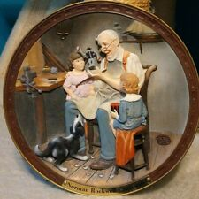 Norman Rockwell Centennial Plate Collection 3D~The Toy Maker