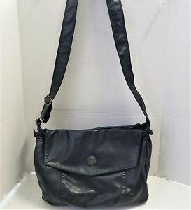 Capezio 1887 Hobo Crossbody Drawstring Handbag Black Shoulder Bag Soft