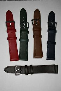 18mm Ladies Watch Strap Genuine Leather Calf Grain. Choice of Colours