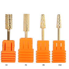 Electric Cylinder Carbide File Drill Bit Golden Nail Art Manicure Pedicure Tools