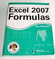 Microsoft Office Excel 2007 Formulas John Walkenbach 2007 & Bonus CD ROM