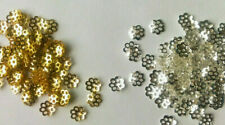 300 Quality Filigree flower bead caps - 6mm Gold Plated / Silver Plated various